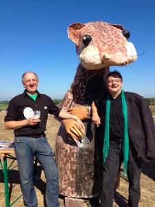 Luc Huber, maire de Pfettisheim, et Alain Jund, élu EELV de Strasbourg, membres de collectif GCO Non Merci (Photo MM / Alsace Nature)